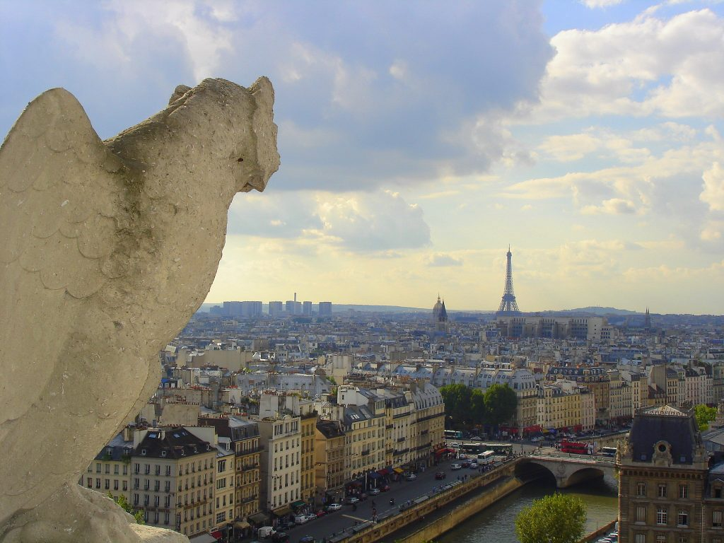 the view from Notre Dame to Le Tour Eiffel